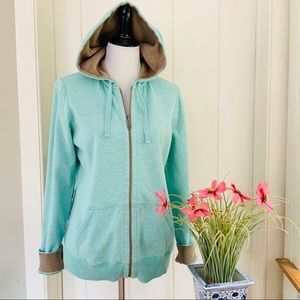 TOMMY BAHAMA Turquoise Zip Front Hoodie Jacket